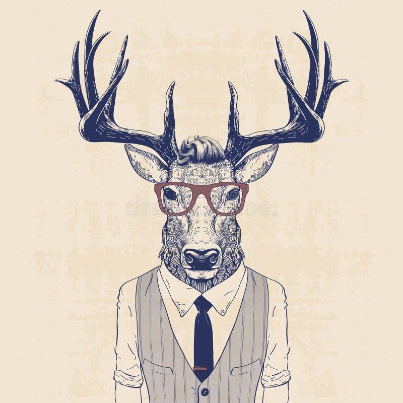 Ciervos del negocio ilustración del vector