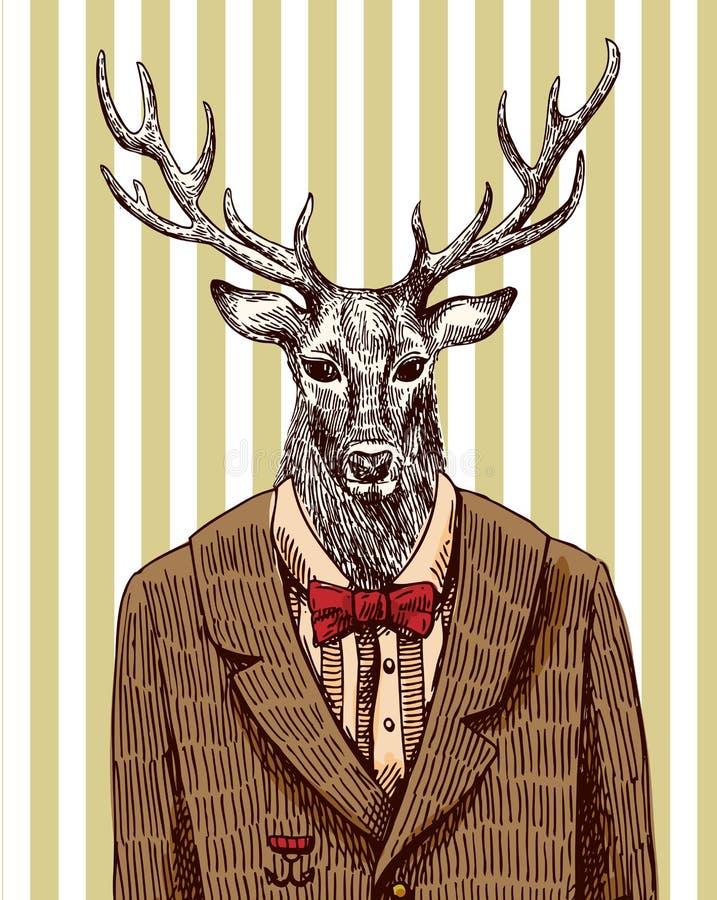 Ciervos en chaqueta libre illustration
