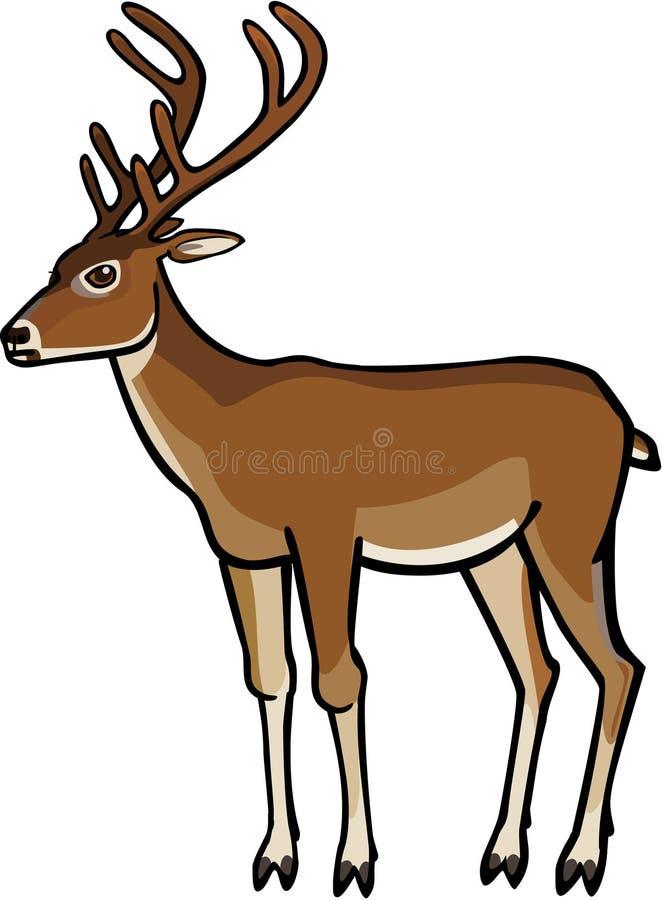 Ciervos en terciopelo libre illustration