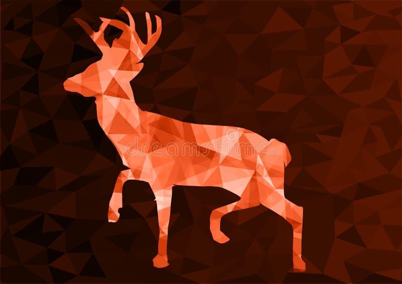 Ciervos poligonales abstractos, ejemplo del vector foto de archivo libre de regalías
