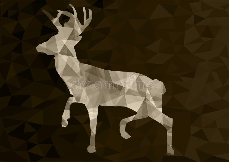 Ciervos poligonales abstractos, ejemplo del vector fotos de archivo
