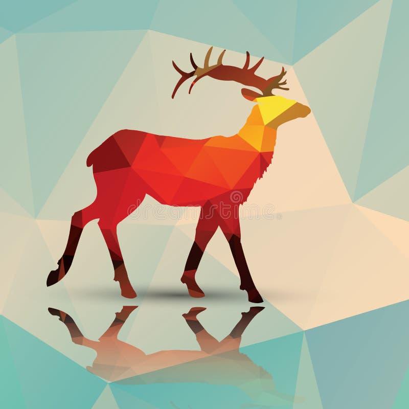 Ciervos poligonales geométricos, diseño del modelo libre illustration