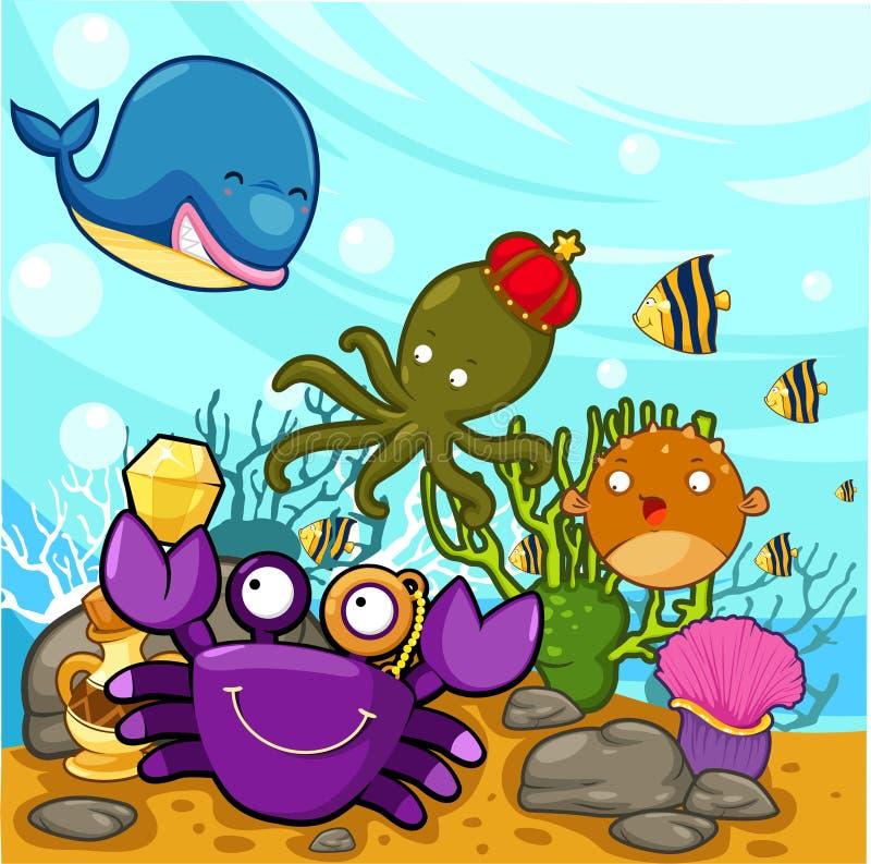 cieszący się ilustracyjny morze royalty ilustracja