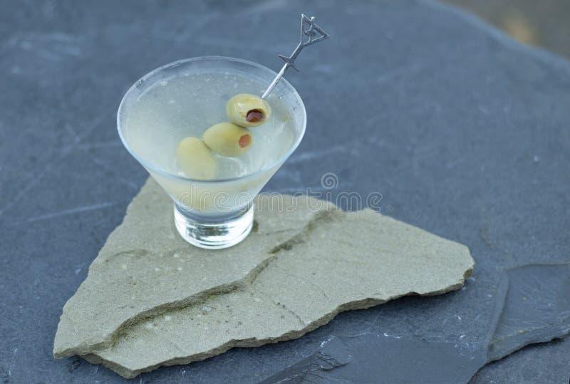 Cieszyć się świeżo trząść brudnego dżin Martini na ciepłym lato wieczór z przyjaciółmi i rodziną podczas podwórka przyjęcia fotografia royalty free
