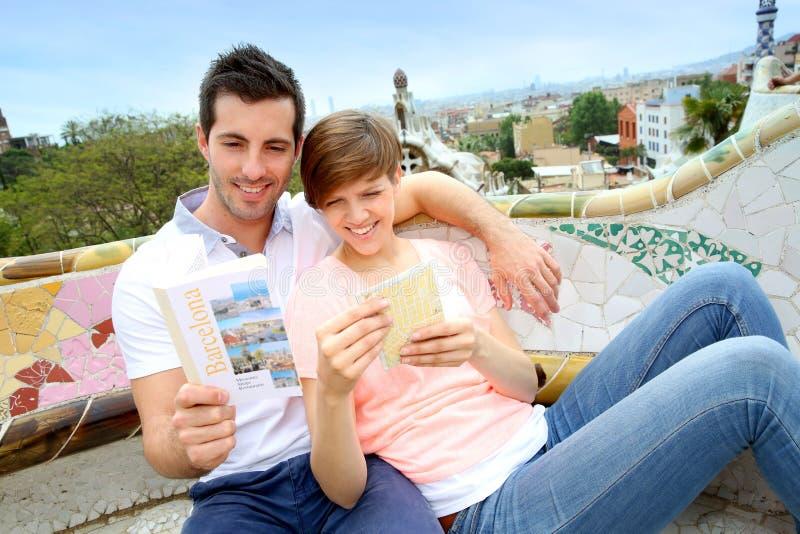 Cieszyć się Barcelona miejsca fotografia royalty free