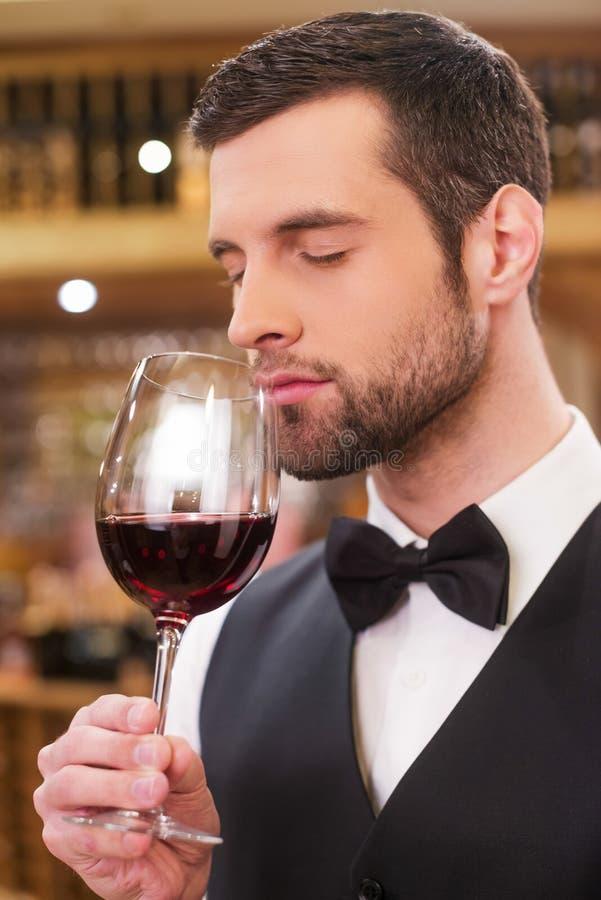 Cieszyć się najlepszy wino obrazy stock
