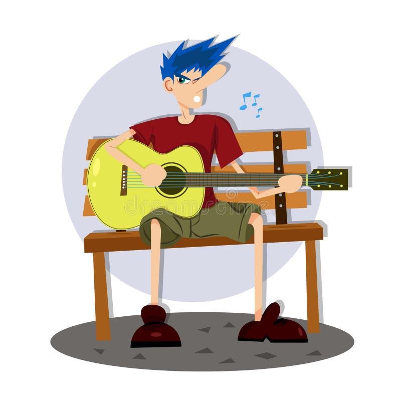 Cieszy się Śpiewa piosenkę royalty ilustracja
