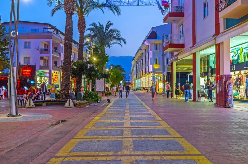 Cieszy się evening Kemer, Turcja obraz stock