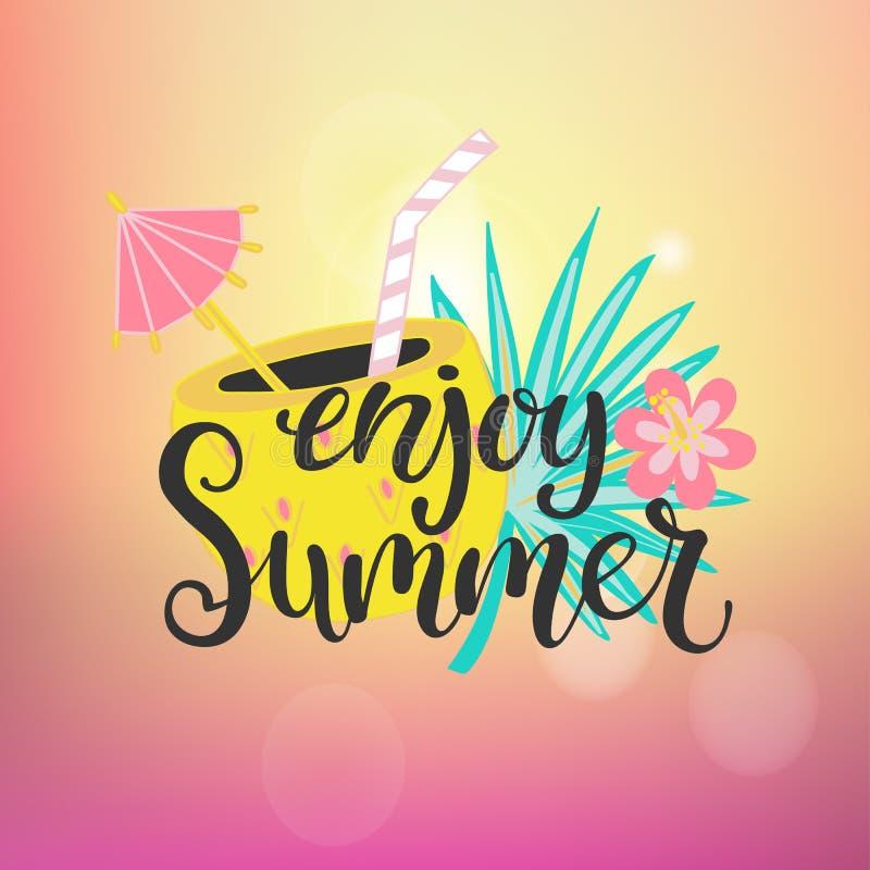 Cieszy się lato raj ilustracja wektor