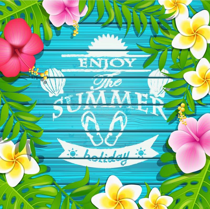 Cieszy się wakacje letni ilustracja wektor