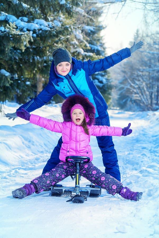 Cieszy się zima dzień zdjęcia royalty free
