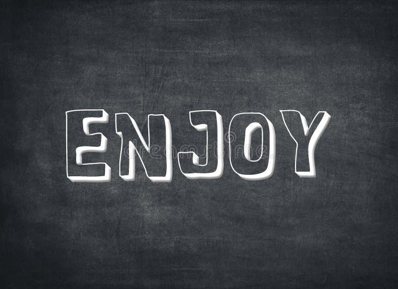 Cieszy si? przyjemno?? dnia ?ycia czasu dzisiaj teraz letterpress wycen? zdjęcie royalty free