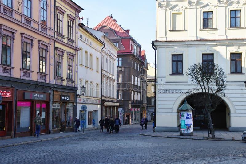 Cieszyn, quadrato di città immagine stock libera da diritti