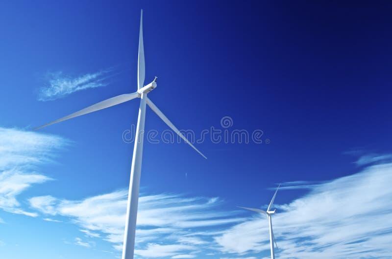 Cieux éoliens photo stock