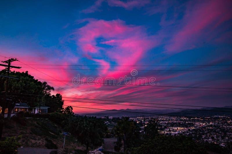 Cieux de la Californie images stock