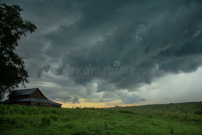 Cieux orageux photo libre de droits