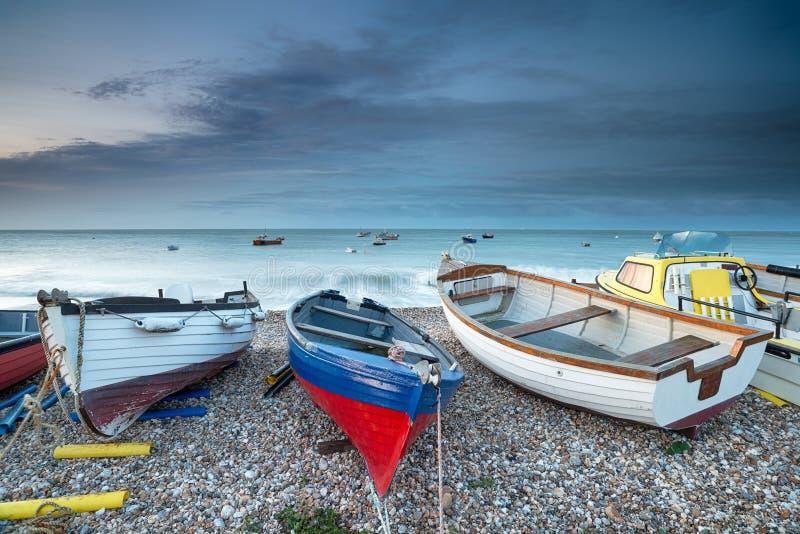 Cieux orageux chez Selsey Bill images libres de droits
