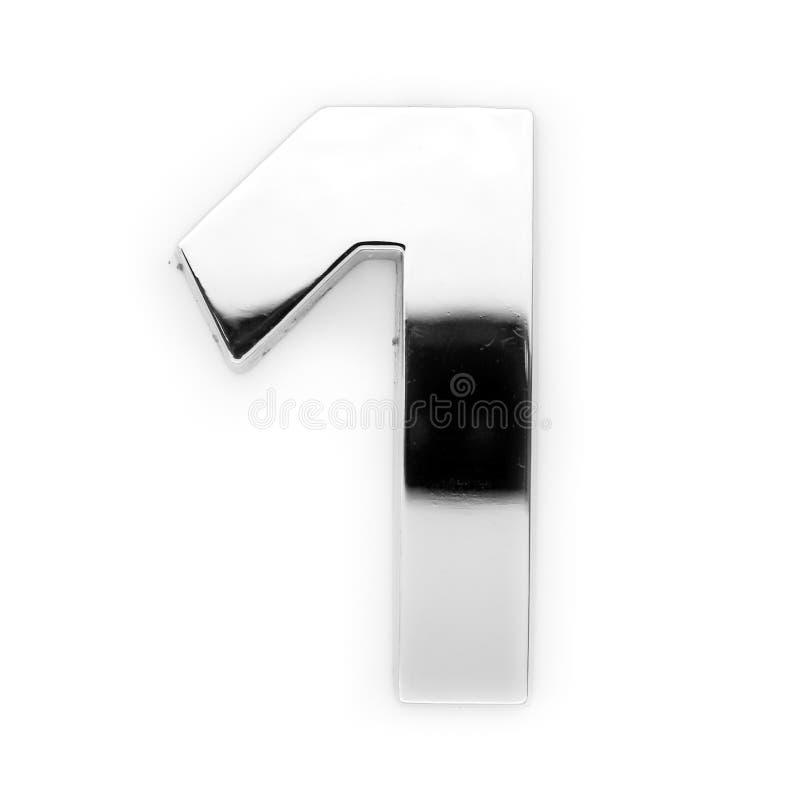 Cifra del metallo - 1 fotografia stock libera da diritti
