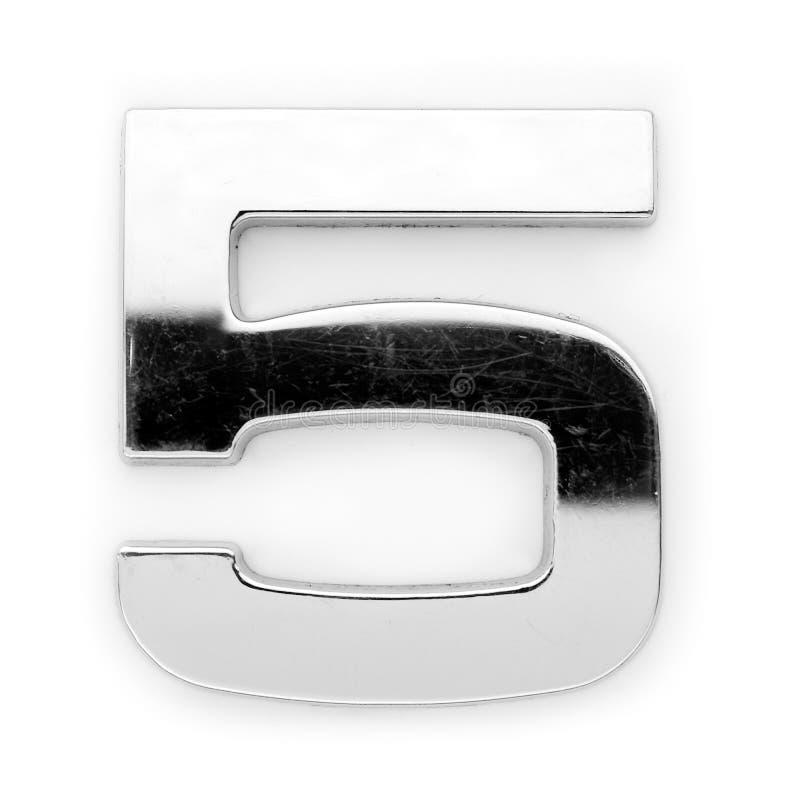 Cifra del metallo - 5 immagini stock