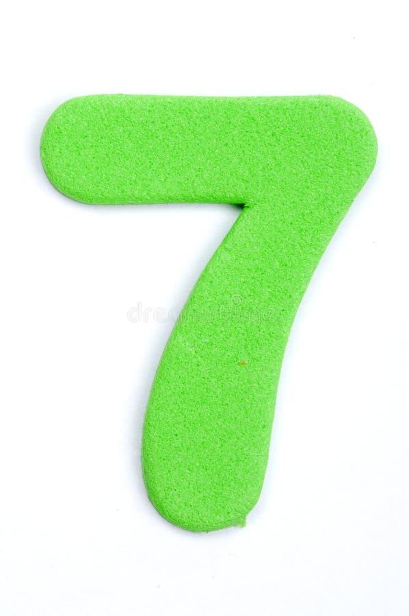 Cifra sette della gomma piuma fotografia stock