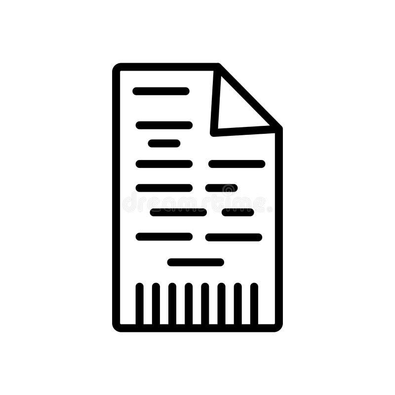 Cifrando el vector del icono aislado en el fondo blanco, muestra de codificación, l libre illustration