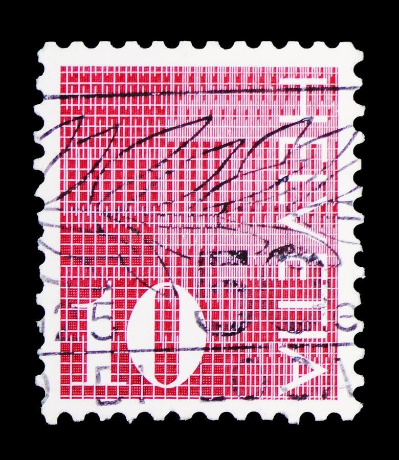 Cifre \ «10 \» su fondo modellato, serie numerale, circa 1970 fotografie stock