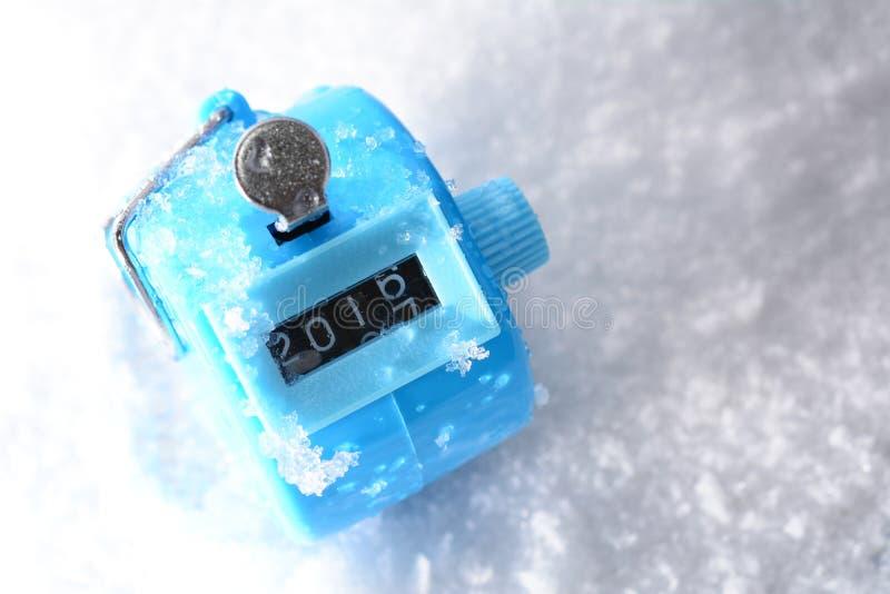 Cifre che cambiano dal 2016 al 2017 Concetto di nuovo anno fotografia stock libera da diritti