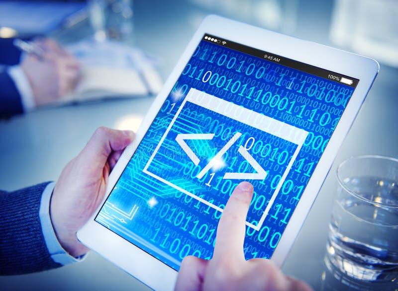 Cifre el concepto binario programado del ordenador de la información del HTML imagen de archivo