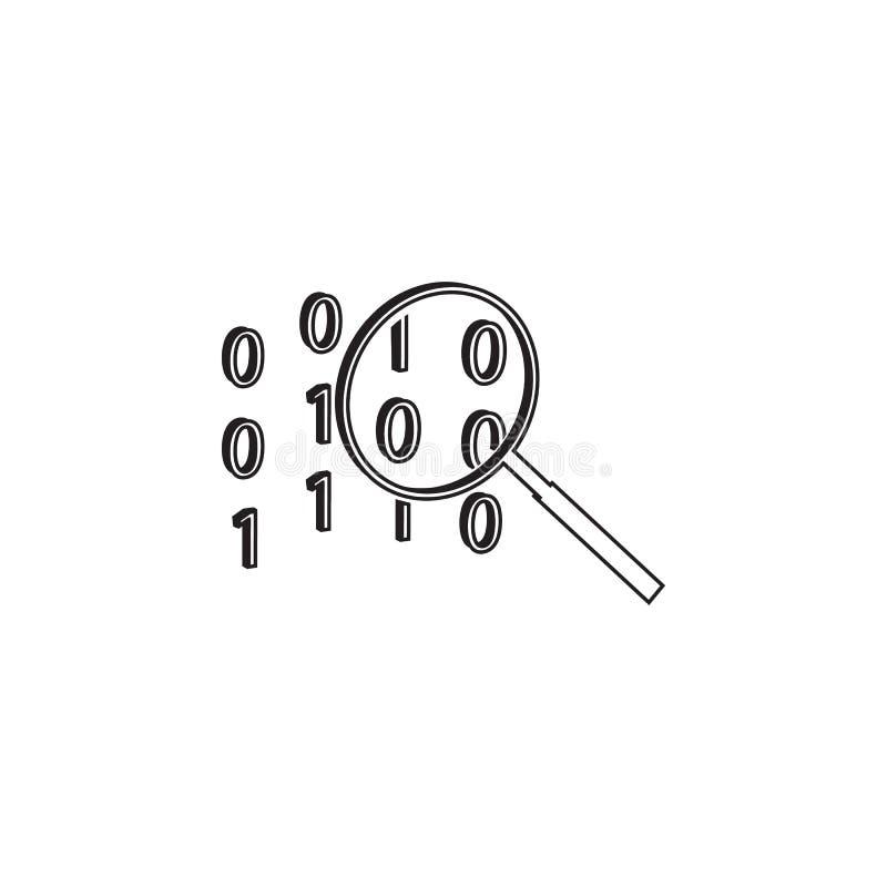 cifre el icono de la búsqueda Elementos del icono cibernético de la seguridad Diseño gráfico de la calidad superior Muestras e ic libre illustration