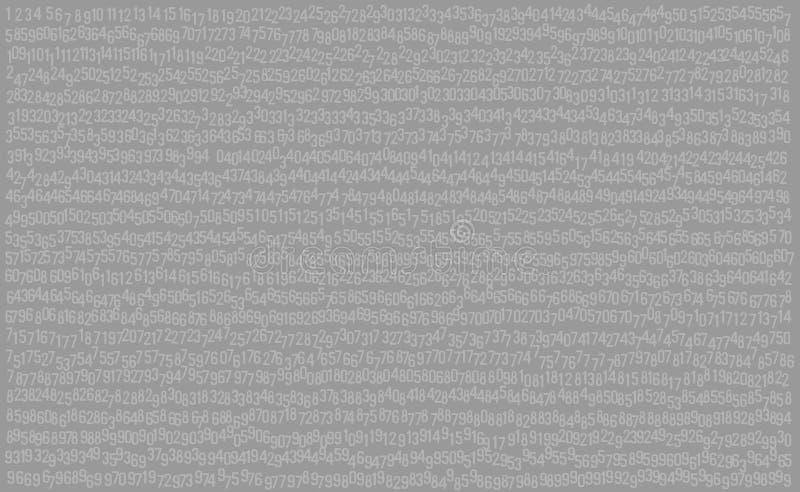 999 cifre, numeri sottraggono il fondo grigio, il vettore EPs10 royalty illustrazione gratis