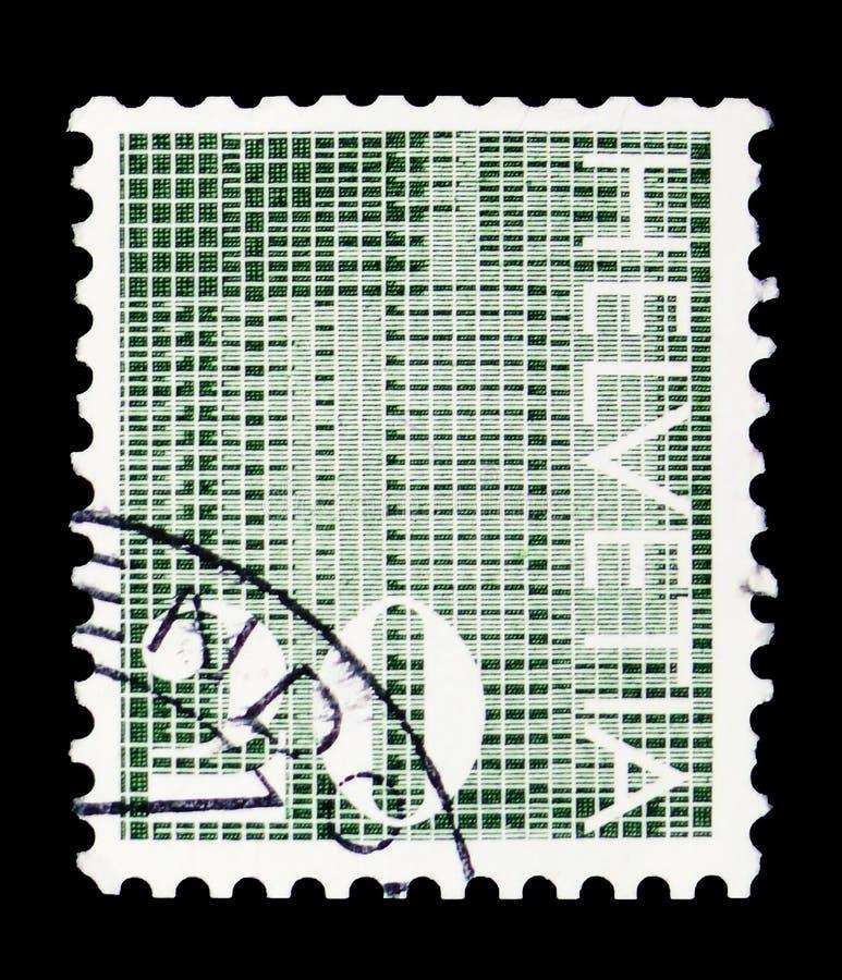 """Cifre """"20' su fondo modellato, serie numerale, circa 1970 fotografia stock"""