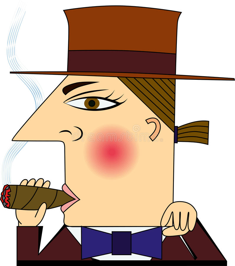 Download CIGAR stock vector. Image of sales, sometimes, people - 28772043