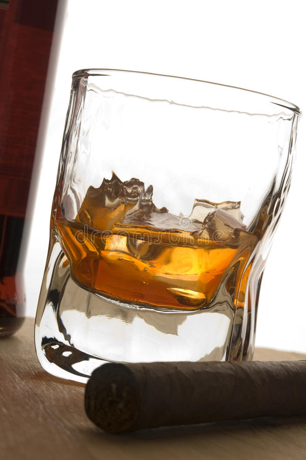 Cigar and drink stock images