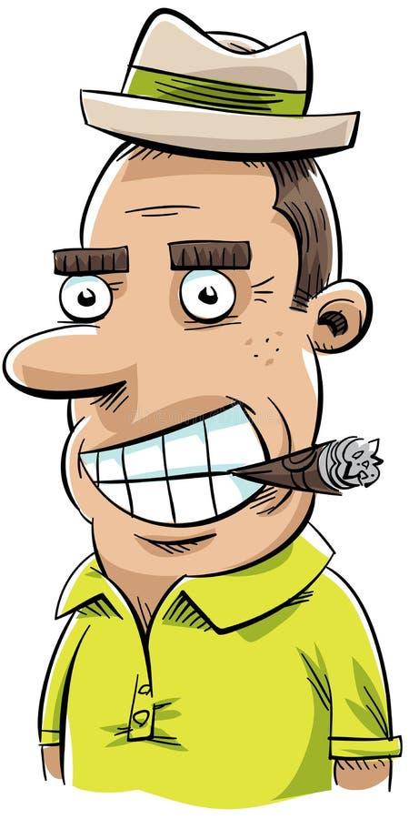 Cigar Man. A retro, cartoon man chomping on a cigar vector illustration