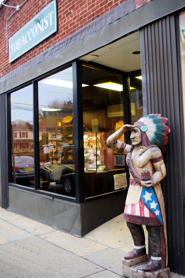 Cigar Store Indian stock photo
