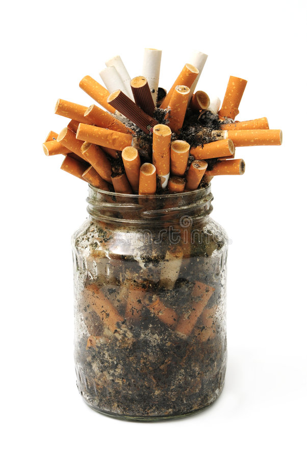 Free Cigar Stubs In Jar Stock Image - 8229321