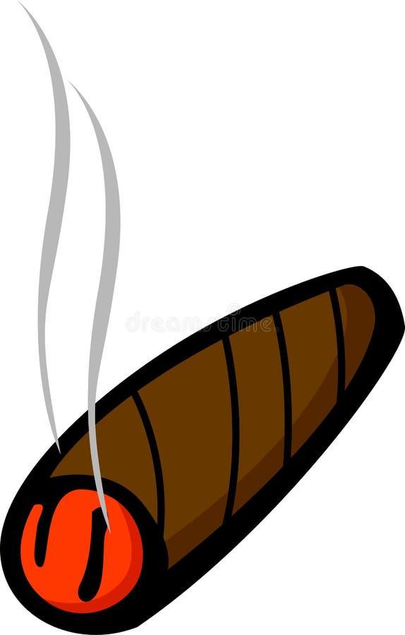 Cigare allumé illustration de vecteur