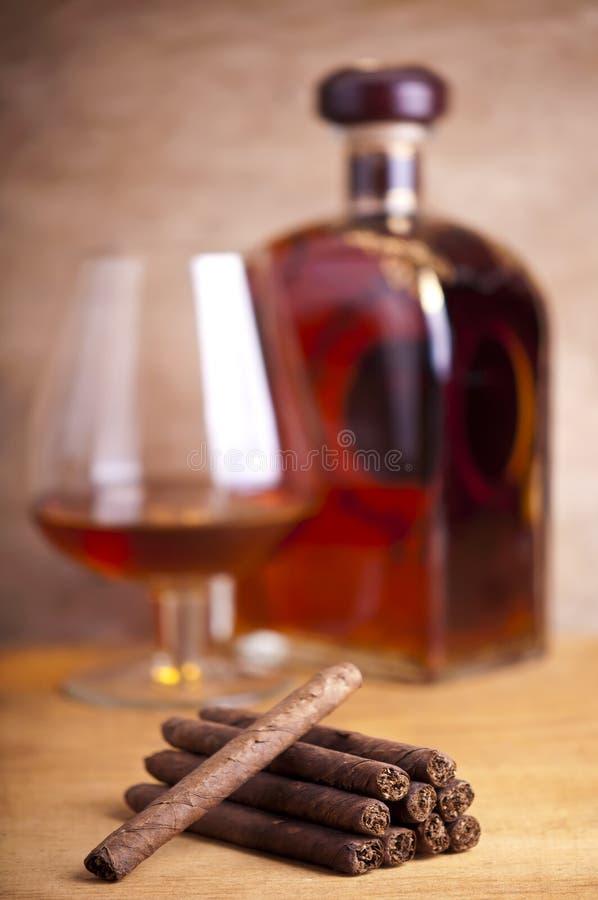 Cigares et cognac image stock