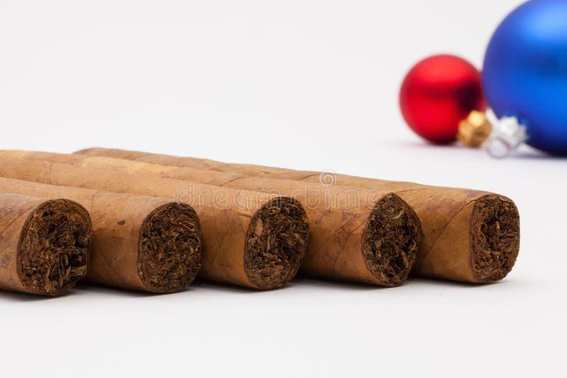 Cigares et décoration cubains de luxe de Noël images stock