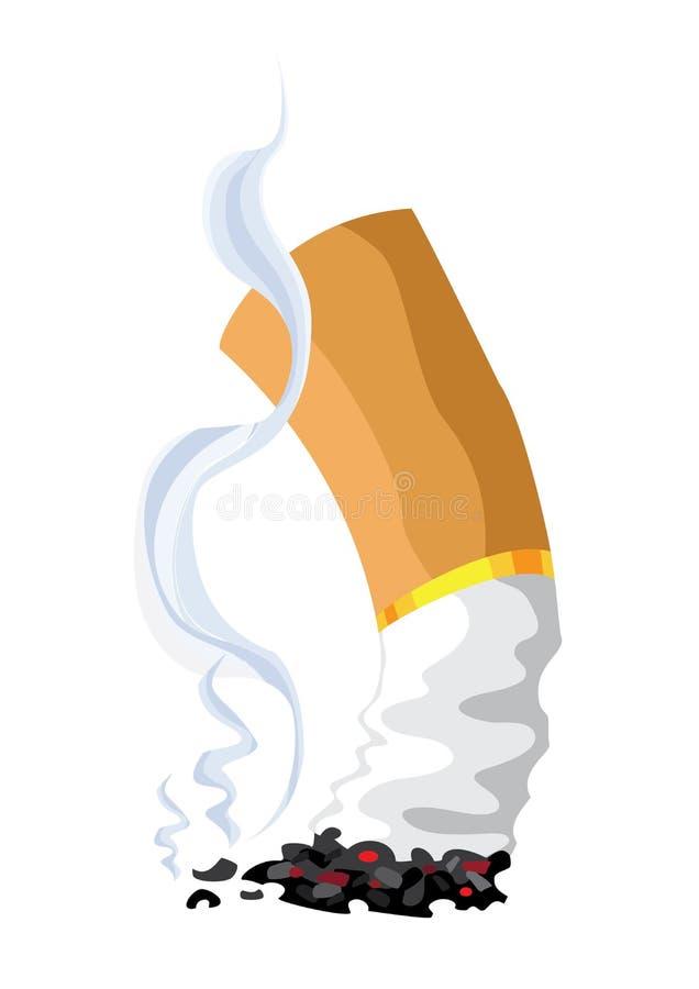 cigarett royaltyfri illustrationer