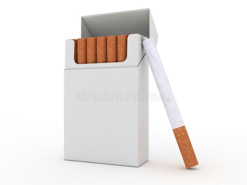 cigarettcigaretter öppnar packen vektor illustrationer