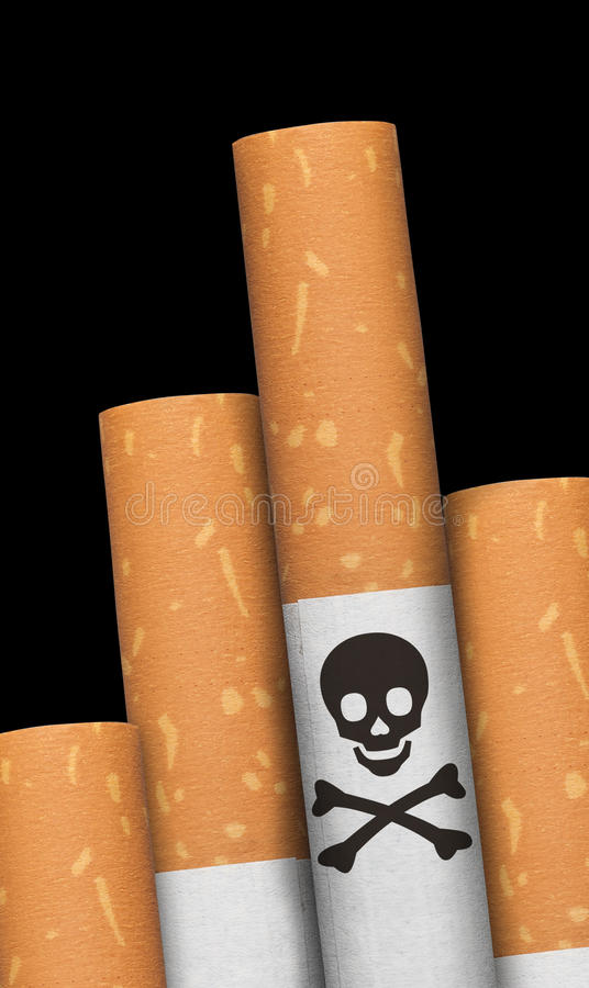 cigarettcrossbonesskalle arkivfoto