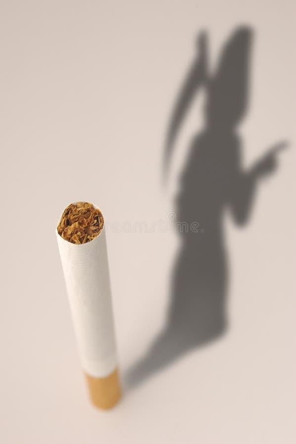 cigarettdödsilhouette stock illustrationer