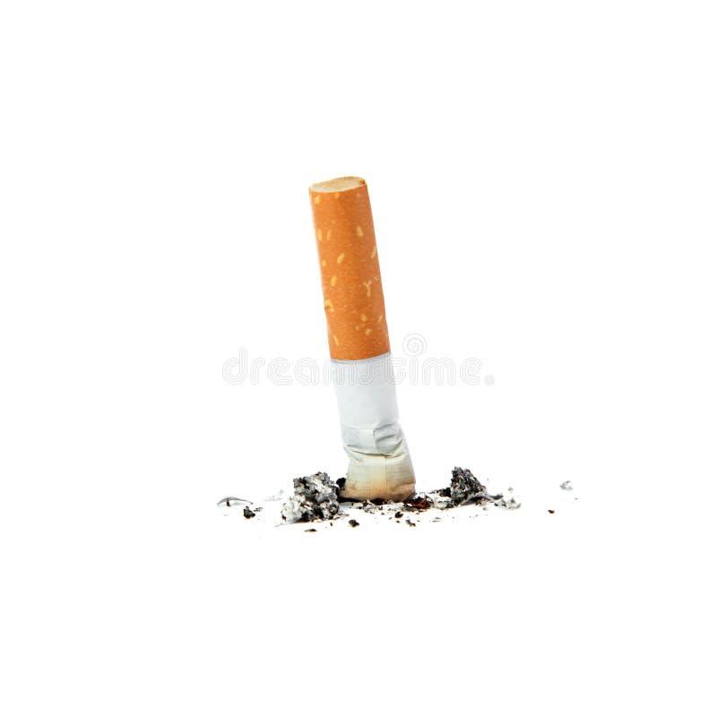 Cigarette éteinte. image libre de droits