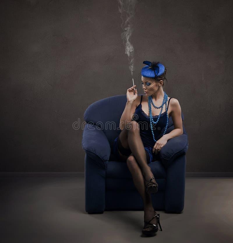 Download Cigarette stock photo. Image of lady, babe, retro, lifestyle - 9257618