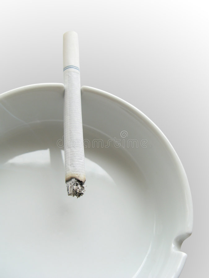 Free Cigarette And Ashtray CU Royalty Free Stock Photo - 3493655