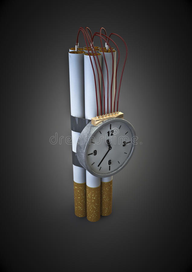 Download Cigarette bomb stock illustration. Image of ticking, unhealthy - 19689150