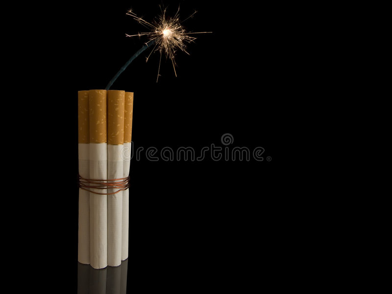 Cigarette Bomb Stock Photo