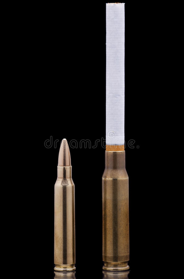 Cigarette and bullet