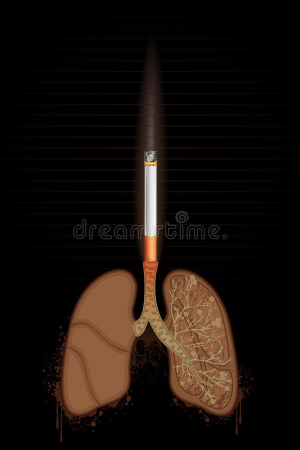 Free Cigarette Burning Lungs Royalty Free Stock Photos - 23712898